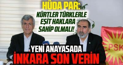 HÜDA PAR: Bir Türk hangi haklara sahipse bir Kürt de aynı haklara sahip olmalı