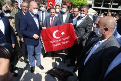 İçişleri Bakanı Soylu, Şırnak'ta bayramlaşma programına katıldı