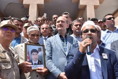 İçişleri Bakanı Süleyman Soylu idil'de Şehit Ailesini Ziyaret Etti