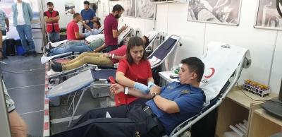 idil İlçe Emniyet Müdürlüğünden Kan Bağışına Destek