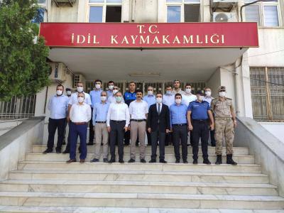 İdil Kaymakamı Ve Belediye Başkan Vekili Refik Özsoy kurum müdürleriyle Bir Araya Geldi