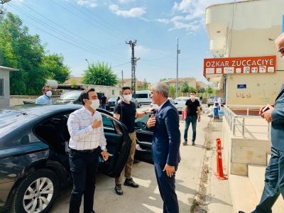 İdil Kaymakamı Ve Belediye Başkan vekili Refik Özsoy'dan AK Parti'ye iade-i ziyaret