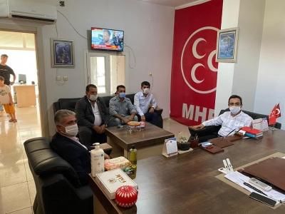 idil Kaymakamı Ve Belediye Başkan Vekili Refik Özsoy MHP İdil ilçe Teşkilatını Ziyaret Etti.