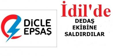 İdil'de Kaçak elektrik denetiminde ekiplere taşlı saldırı