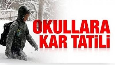 İdil'de Okullara Kar Tatili.