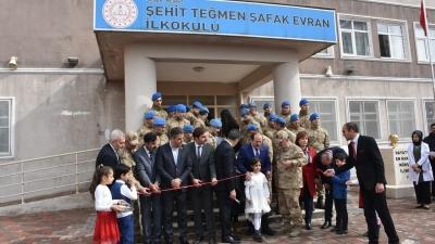 İdil'de Şehit Olan Teğmen Şafak Evran'ın adını taşıyan okul açıldı