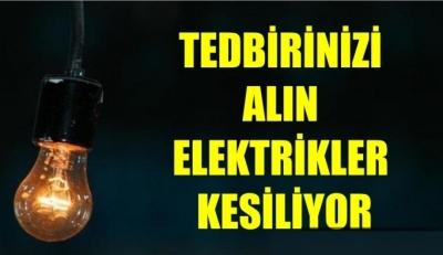 İdil'de Yarın Elektrik Kesintisi Olacak.