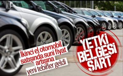 İkinci el araç satışı için yeni düzenleme
