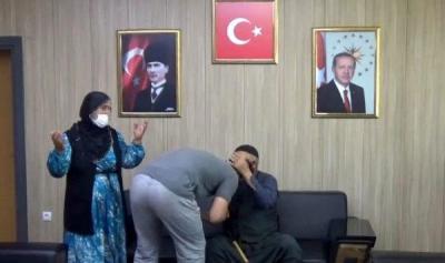 İkna yoluyla teslim olan PKK'lı, ailesiyle buluştu