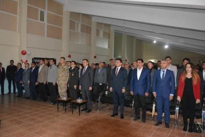 İstiklal Marşı'nın Kabulünün 98. Yıl Dönümü idil'de Törenle Düzenlendi