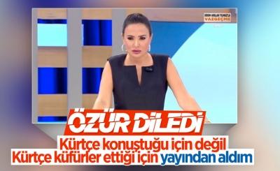 Kürtçe konuşan kadını yayından alan Didem Arslan Yılmaz özür diledi
