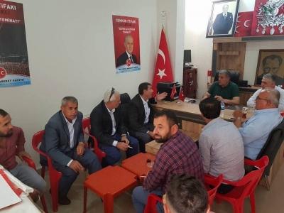 MHP Şırnak Merkez ilçe Başkanı Nusret Özdemir İdil'de