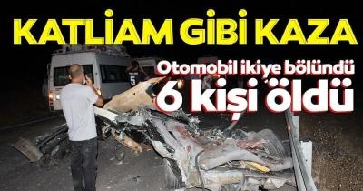 Midyat'ta feci kaza! 6 kişi öldü, 2 kişi yaralandı