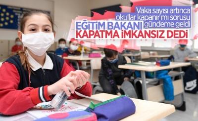 Milli Eğitim Bakanı Mahmut Özer: Okulları kapatabilme lüksümüz yok