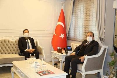 Milli Eğitim Bakanlığı Bakan Danışmanı Erhan Angın, Vali Ali Hamza Pehlivan'ı ziyaret etti