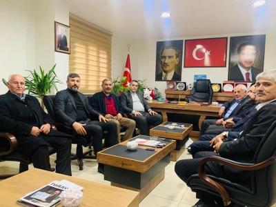 Milliyetçi Hareket Partisi Batman İl Başkanı Mehmet Açık AK Parti idil İlçe Başkanını Ziyaret Etti