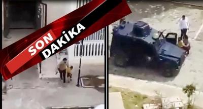 Nusaybin'de çocukların yanında havaya ateş eden polis Açığa Alındı.