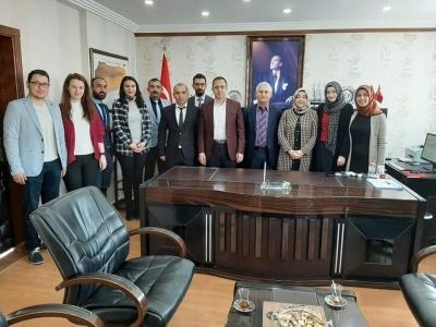 Öğretmenler, idil Kaymakamı ve Belediye Başkan Vekilimiz Zafer SAĞ'ı Ziyaret Etti