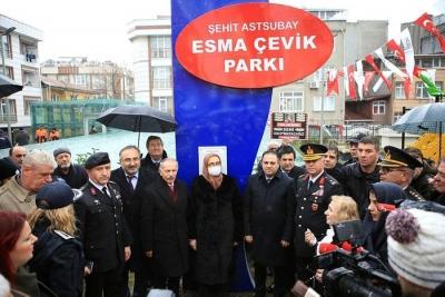 Şehit Astsubay Esma Çevik'in adı parkta yaşayacak