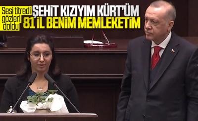 Şehit kızının sözleri AK Parti Grubu'ndakileri duygulandırdı