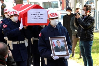 Şehit Piyade Teğmen Burhan Sönmez son yolculuğuna uğurlandı.