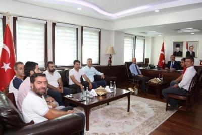 Şırnak Gazeteciler Cemiyeti, Vali Ali Hamza Pehlivan'ı Ziyaret Etti.