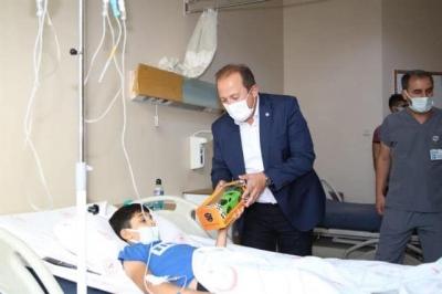 Şırnak Valisi Ali Hamza Pehlivan, Şırnak Devlet Hastanesinde incelemelerde bulundu.