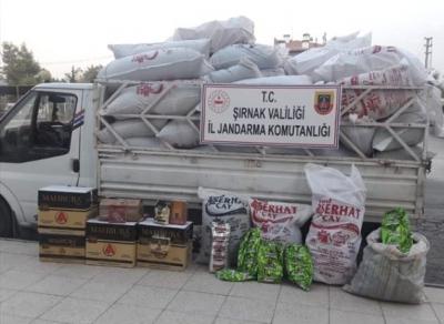 Şırnak'ta 322 kilogram gümrük kaçağı çay ele geçirildi