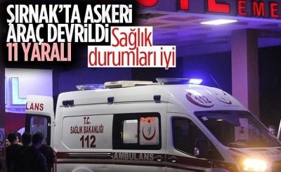 Şırnak'ta askeri araç devrildi