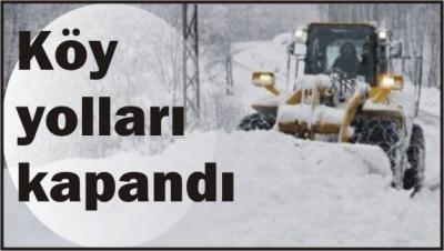 Şırnak'ta kar nedeni ile 18 köy yolu ulaşıma kapandı