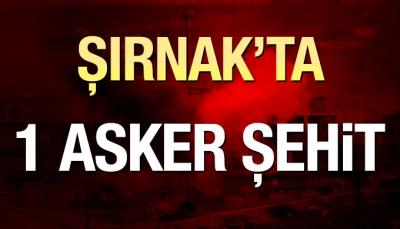 Şırnak'ta  PKK saldırısı:1 şehit