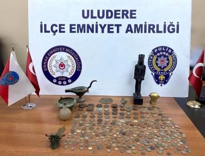 Şırnak'ta tarihi eser operasyonu: 3 gözaltı