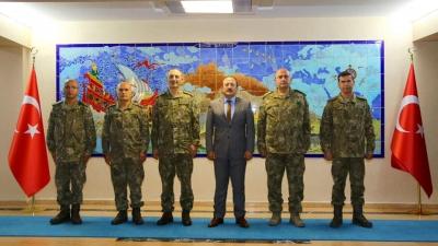 Tayinleri Çıkan Komutanlar, Şırnak Valisi Ali Hamza Pehlivan'ı Ziyaret Etti
