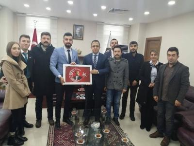 Türk Eğitim Sen ve Türk Sağlık Sen'den idil Kaymakamı Ve Belediye Başkan Vekili Zafer SAĞ'a Ziyaret