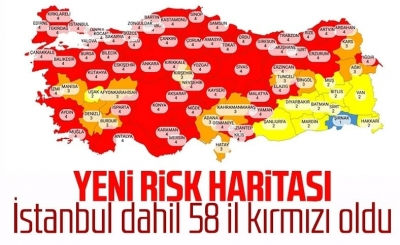 Türkiye genelinde Şırnak dışında mavi il kalmadı