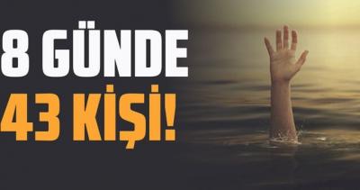 Türkiye'de son 8 günde 43 kişi suda boğuldu