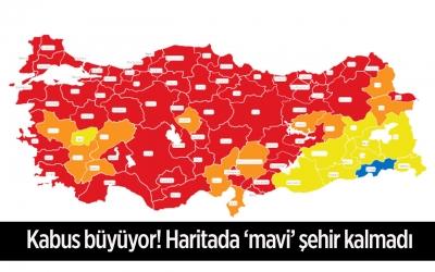 Türkiye'nin En Çok MAVİ Kalan Kenti Şırnak, Sarı'ya Geçti