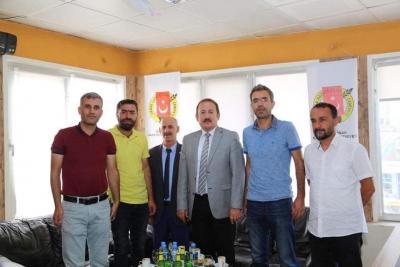 Vali Ali Hamza Pehliva, Şırnak Gazeteciler Cemiyeti'ne Ziyarette Bulundu.
