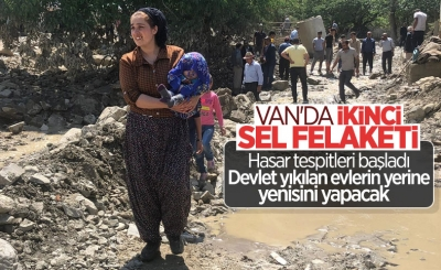 Van'da ikinci kez sel felaketi