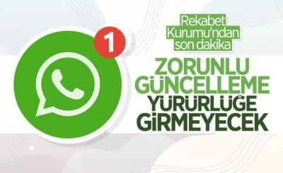 WhatsApp'ın veri paylaşımı güncellemesi Türkiye'de yürürlüğe girmeyecek