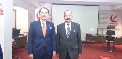 Yeniden Refah Partisi Genel Başkanı  Fatih Erbakan , Partisinin Şırnak il başkanı Sabri Tatarı kabul etti