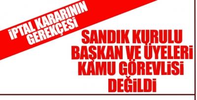 YSK'nın İstanbul için seçimlerin iptal gerekçesi